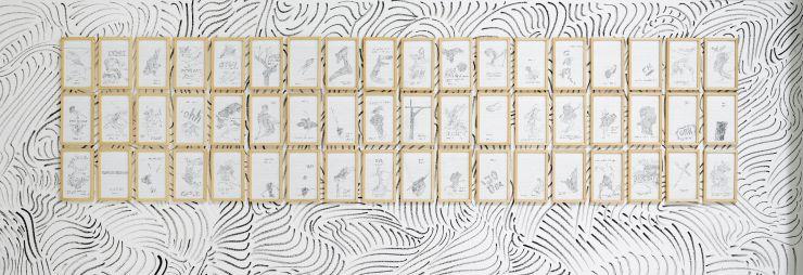 Doble o nada (2011) Tinta sobre papel 20×14 cm Serie de 50. José Medina Galeote