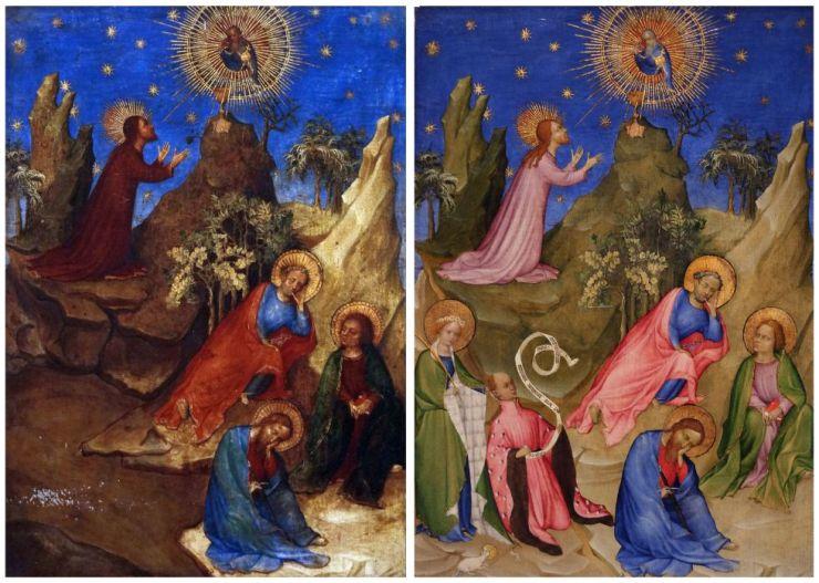 El antes y el después de 'La oración en el huerto'
