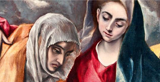 "Detalle ""Sagrada Familia con santa Ana y san Juanito"""